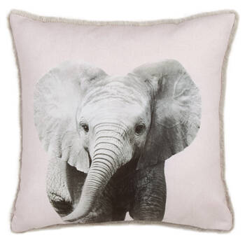 "Baby Elephant Decorative Pillow 15"" x 15"""