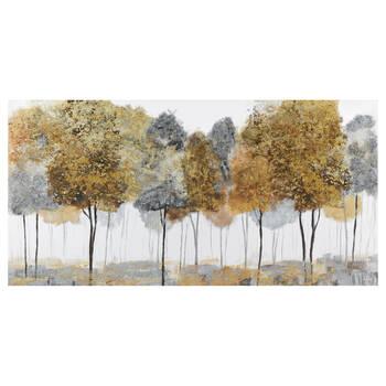 Tableau abstrait forêt embelli au gel