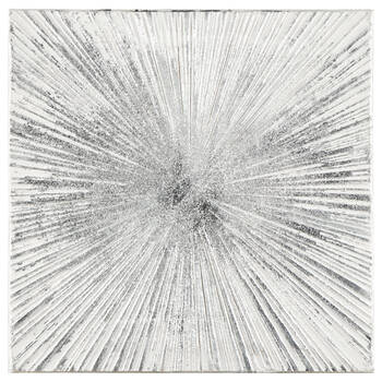 Silver Burst Oil Painted Canvas