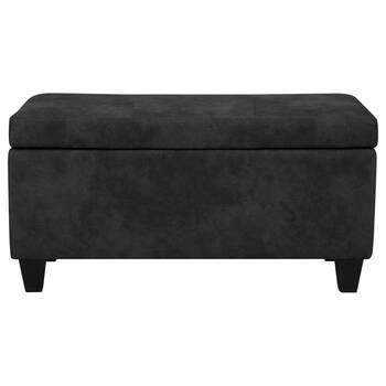 Textured Faux Leather Storage Bench
