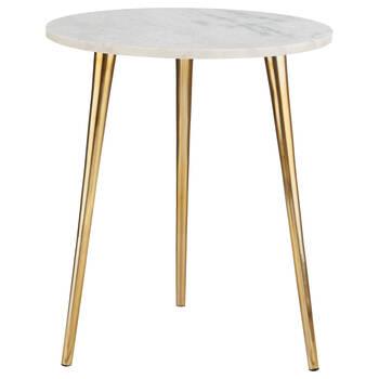 Table d'appoint en marbre et en fer