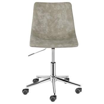 Chaise de bureau roulante en faux cuir Crazy Horse et en fer