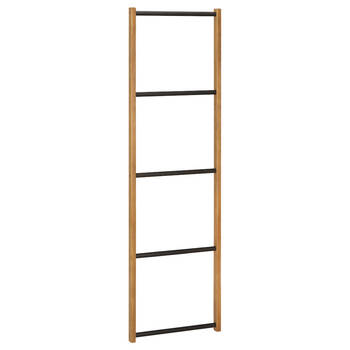 Wood and Metal Ladder Towel Holder