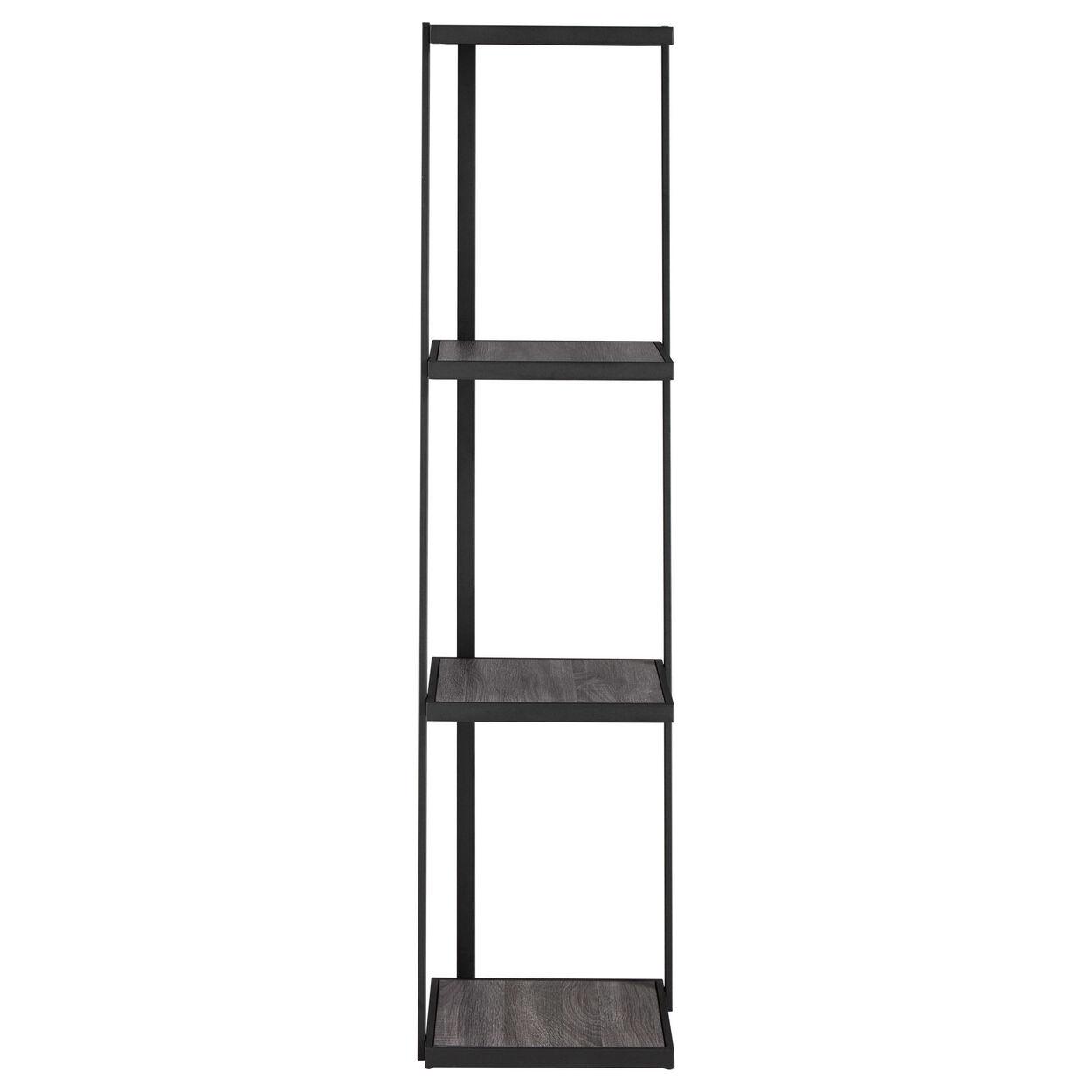 Veneer and Metal Shelf