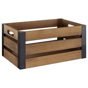 Caisse en bois et métal