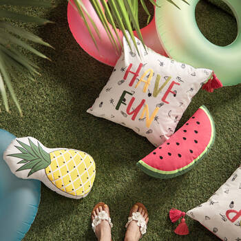"Pineapple Decorative Pillow 10"" X 18"""