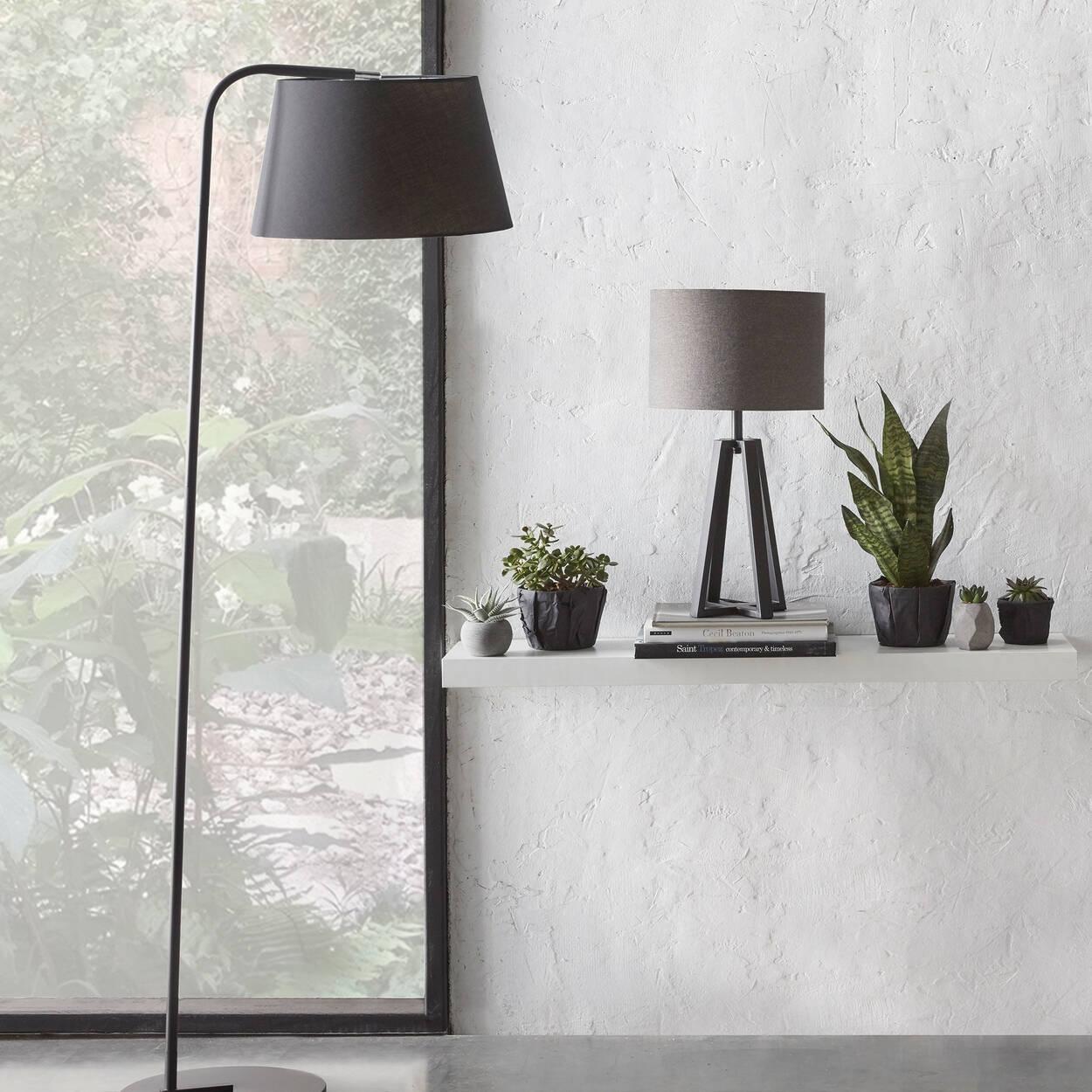 Geometric Metal Table Lamp