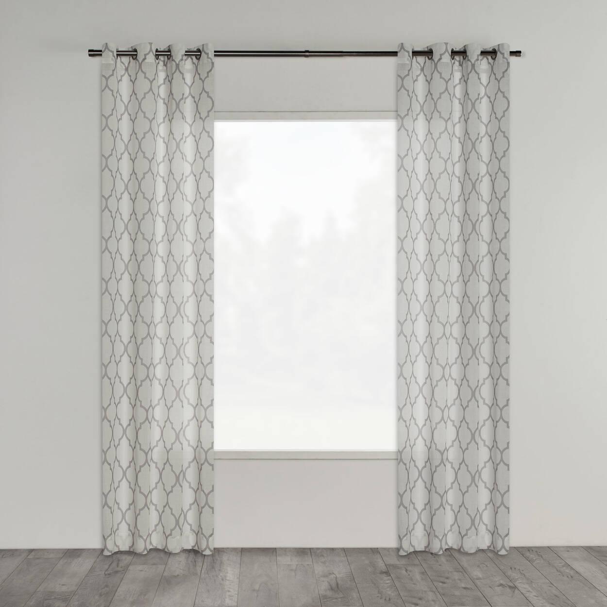 rideau semi transparent baroque. Black Bedroom Furniture Sets. Home Design Ideas