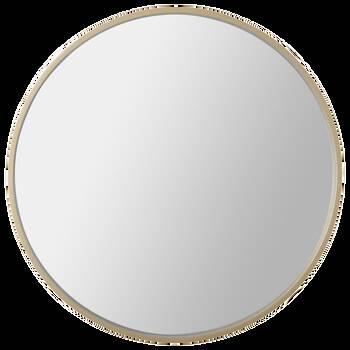 Miroir rond avec cadre doré