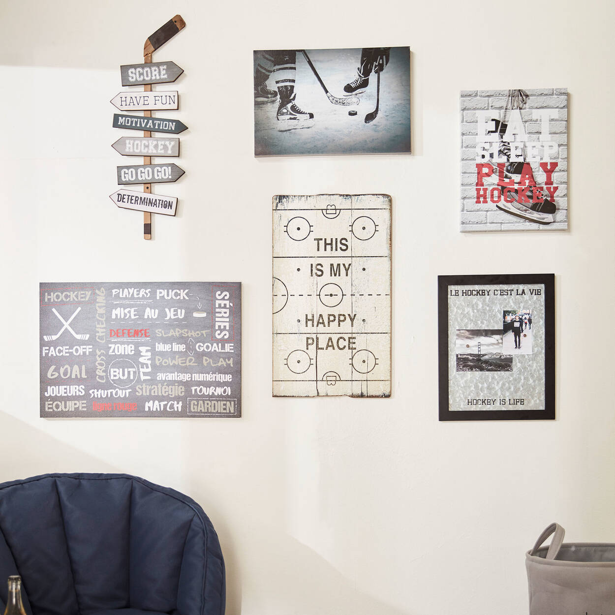 Hockey Stick Wall Art