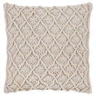 "Elen Macramé Decorative Pillow 18"" X 18"""