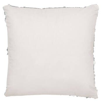 "Silver Sequined Decorative Pillow 18"" x 18"""