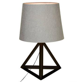 Lampe de table triangulaire en métal