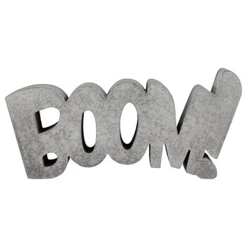 Decorative Cement Word Boom|