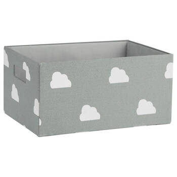 Panier de rangement moyen à motif de nuages