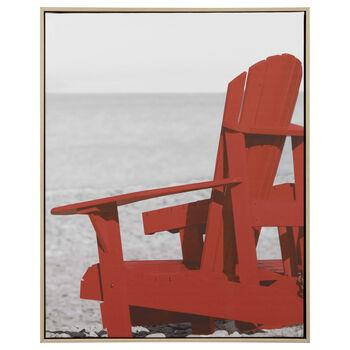 Adirondack Chair Printed Framed Art