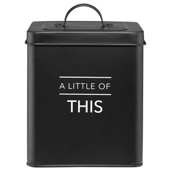 Metal Jar with Typography