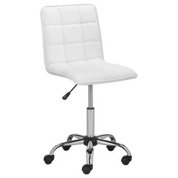 Chaise de bureau ajustable en similicuir matelassé