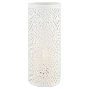 Cut-Out Ceramic Tube Table Lamp