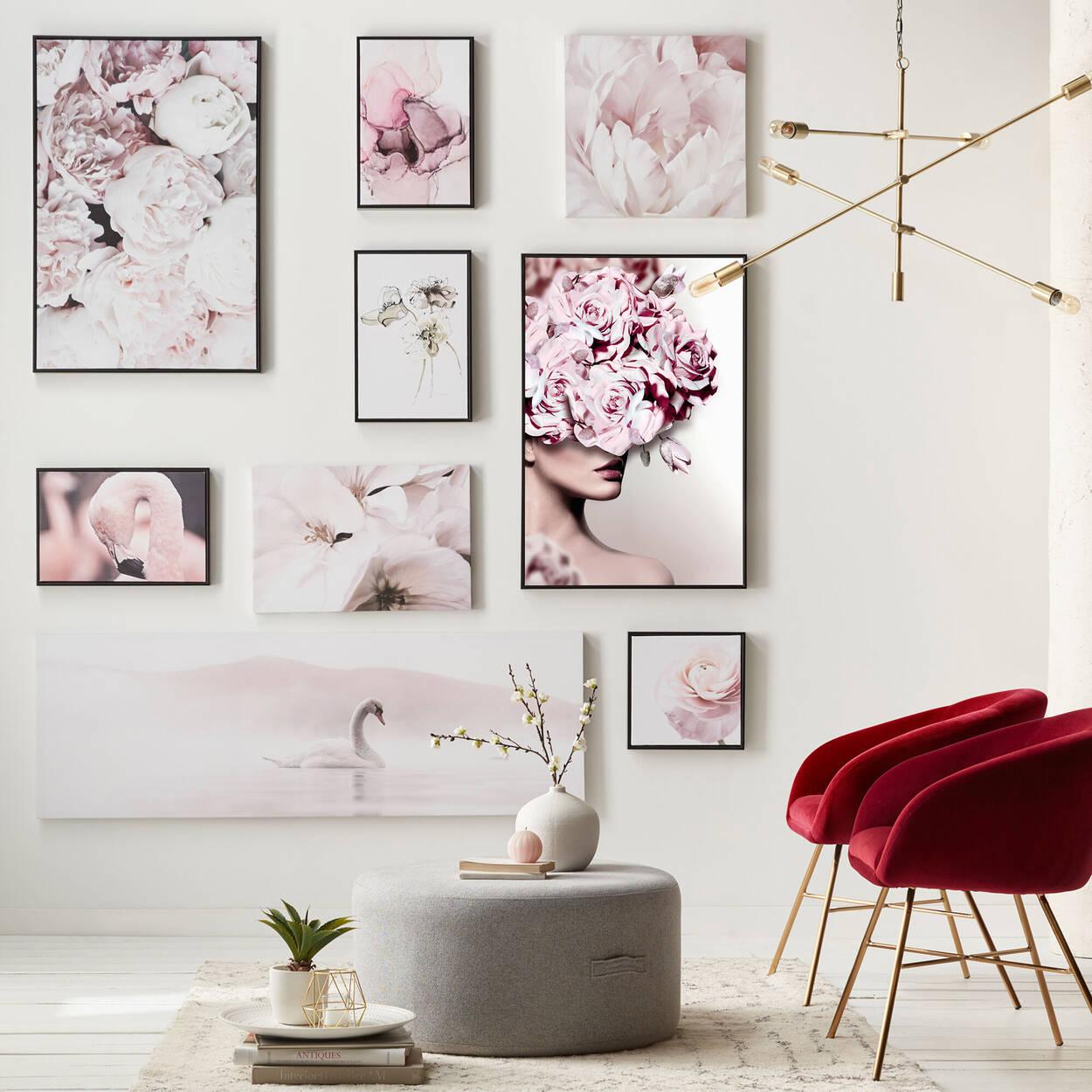 Gel-Embellished Poppies Framed Art