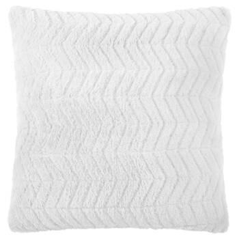 "Herringbone Faux Fur Decorative Pillow 18"" X 18"""