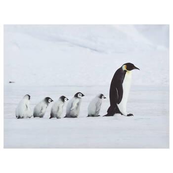 Tableau imprimé de la marche de pingouins