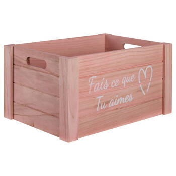 Large Do What You Love Wooden Crate