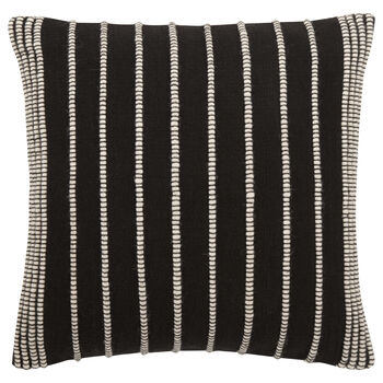 "Hiso Embroidered Striped Decorative Pillow 18"" X 18"""