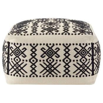 Patterned Cotton Ottoman