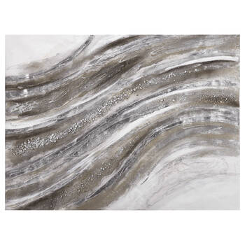Abstract Wave Oil Painted Canvas