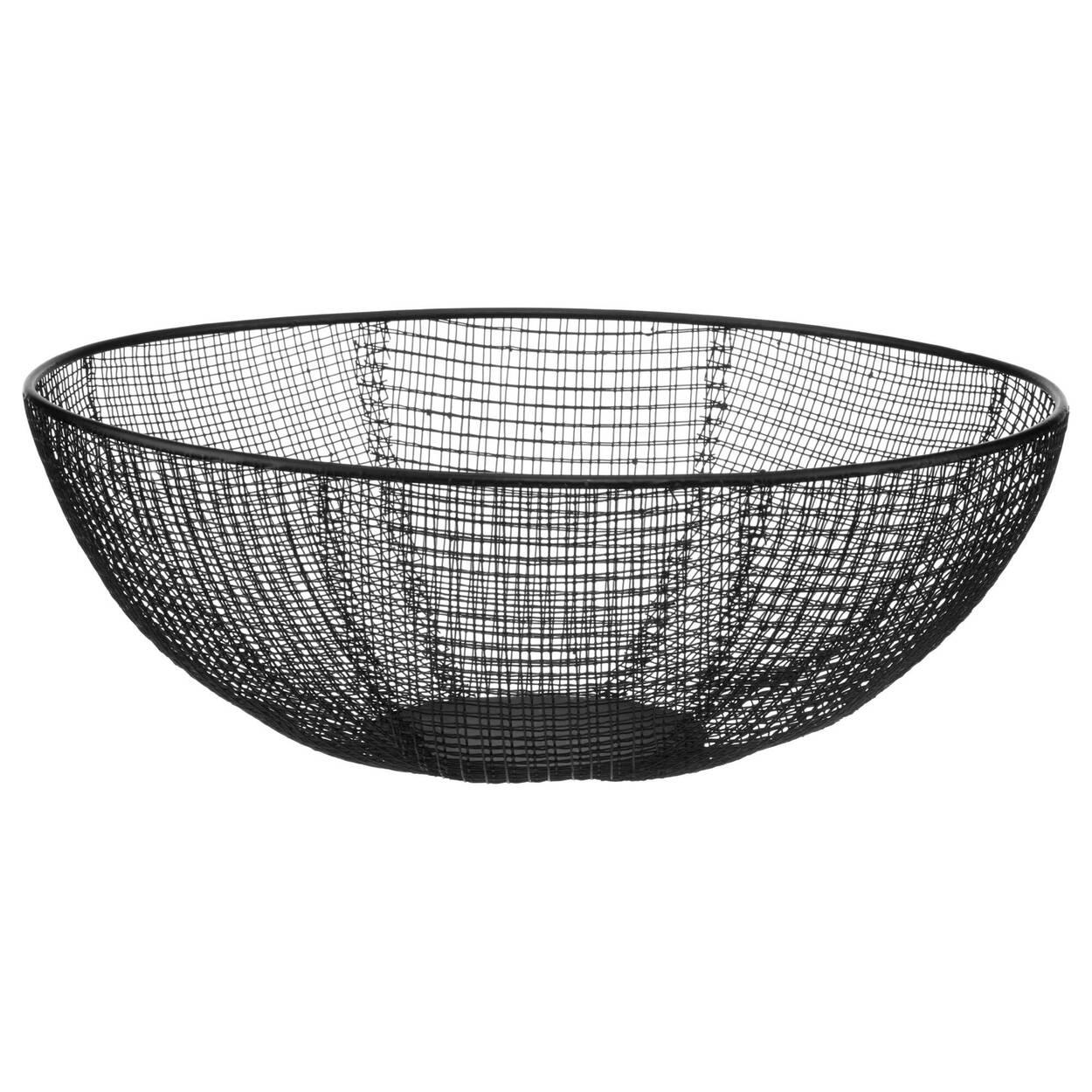 Black Metal Mesh Bowl