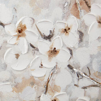 Oil-Painted Cherry Blossoms Canvas