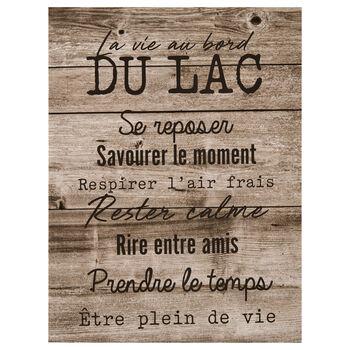 La Vie au Bord du Lac Printed Canvas