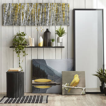 Perched Canary Printed Canvas
