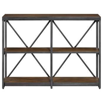 Console à trois étagères en bois et en métal