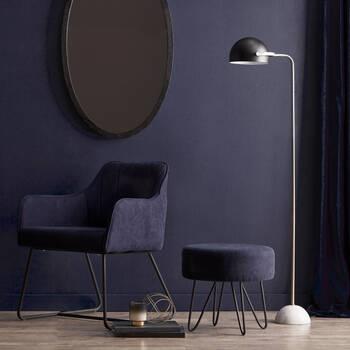 Metal and Marble Floor Lamp