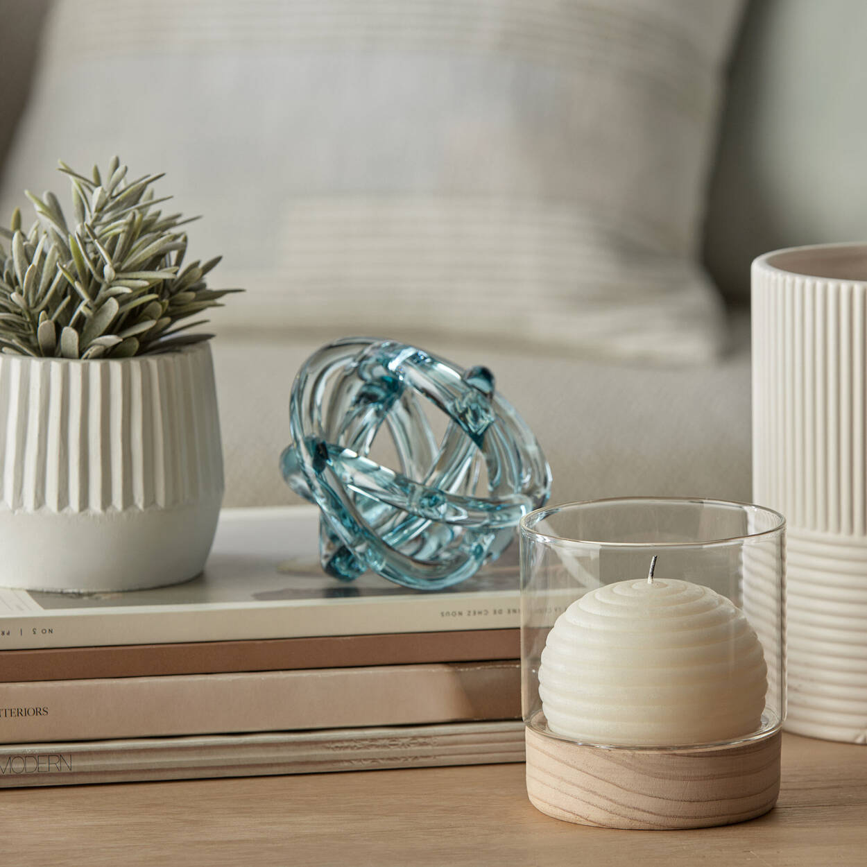 Artistic Aqua Glass Decor