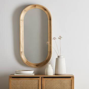 Elongated  Framed Mirror