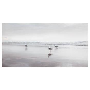Seagulls on Beach Printed Canvas