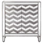 Mirrored Cabinet with Chevron Pattern