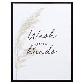 Tableau encadré Wash Your Hands (Lavez vos mains)