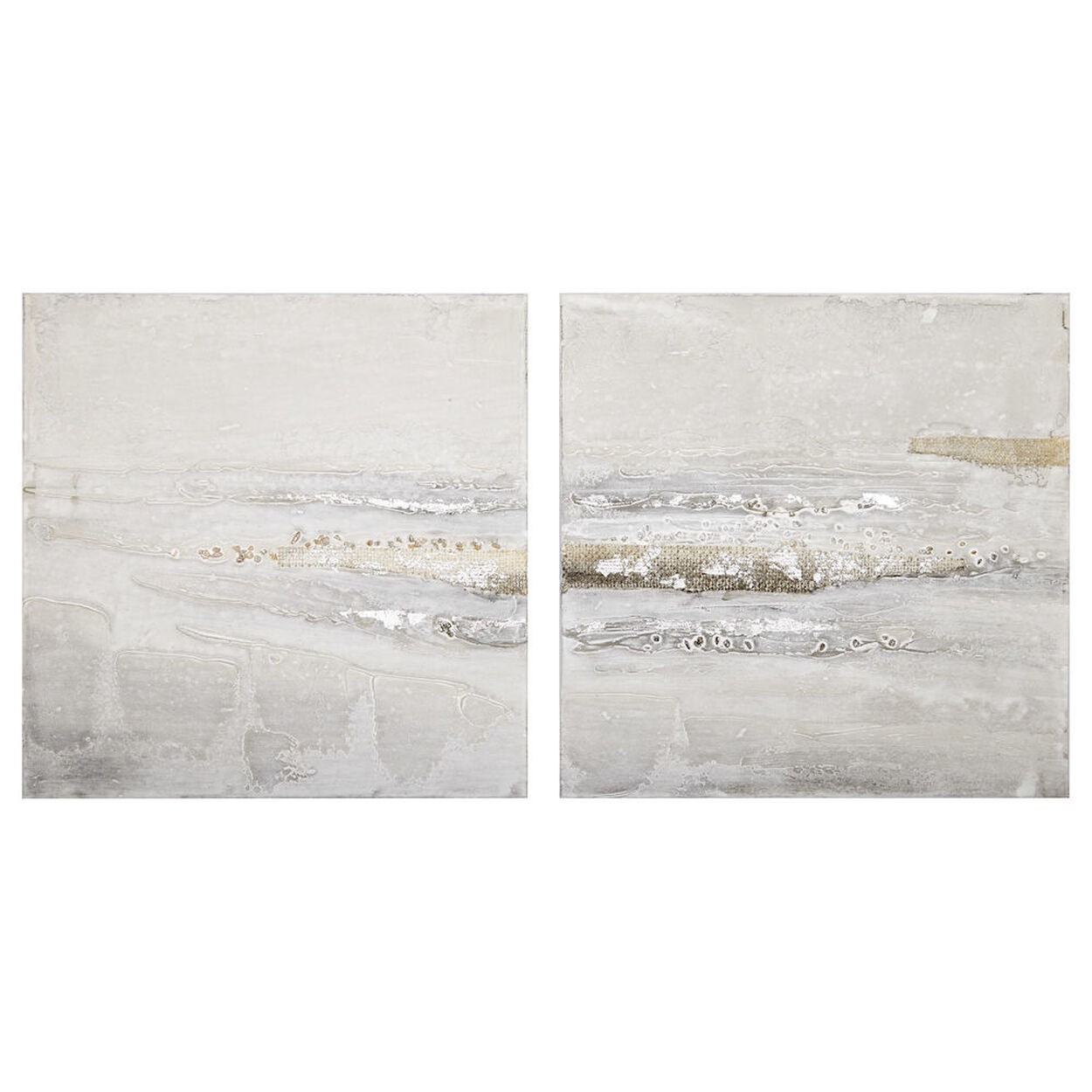 Set of 2 Abstract Oil Painted Canvases