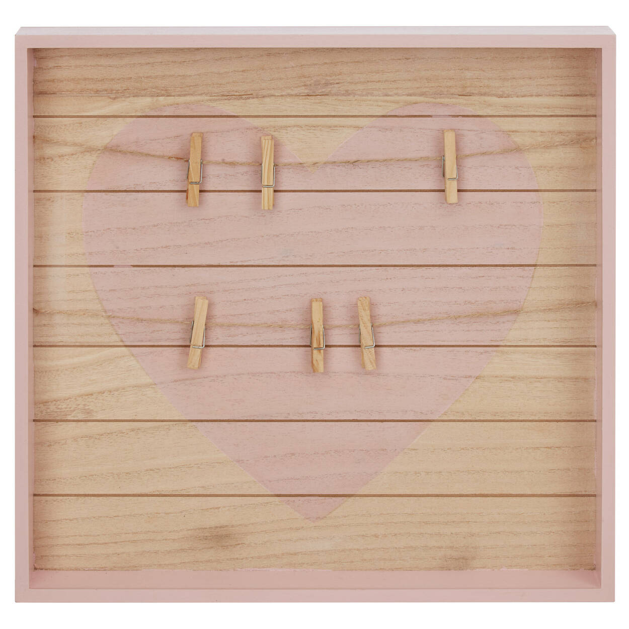 Tableau aide-mémoire en bois avec pinces