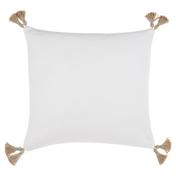 "Loti Decorative Pillow with Tassels 17"" X 17"""