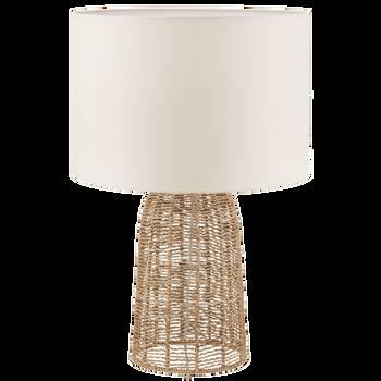 Hemp Rope and Linen Shade Table Lamp