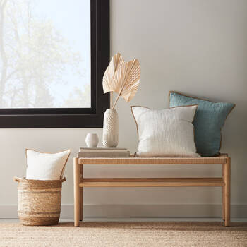 Natural Woven Bench