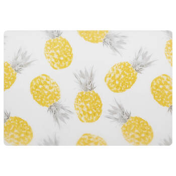 Set of 4 Pineapple PVC Placemats