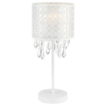 Baroque Cut-Out Table Lamp with Decorative Droplets