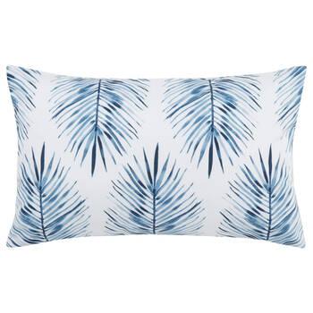 """Coussin lombaire décoratif déperlant feuilles de palmier 13"""" X 20"""""""
