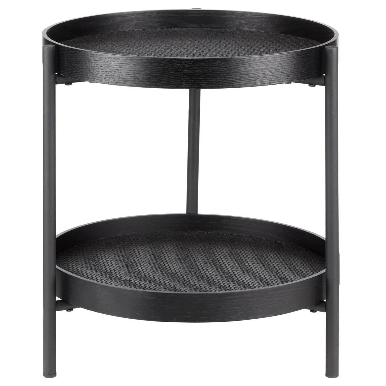 Rattan and Metal Side Table